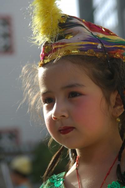 可爱的小女孩脸部特写镜头