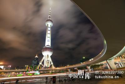 上海东方明珠塔夜景图片