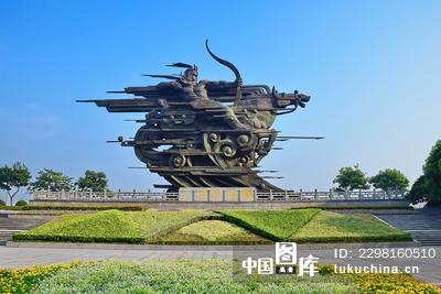 杭州钱王射潮雕塑